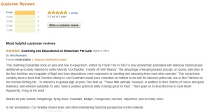 Customer review by author Nina Munteanu.