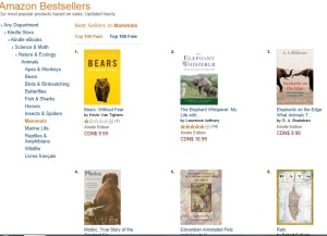 On 7 March 2014, the book ranked #5 under the Mammals category for paid books.
